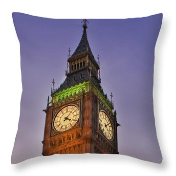Throw Pillow featuring the photograph Big Ben Twilight In London by Terri Waters
