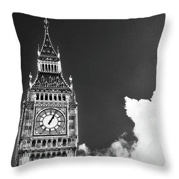 Big Ben With Cloud Throw Pillow