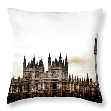 Big Bend And The Palace Of Westminster Throw Pillow