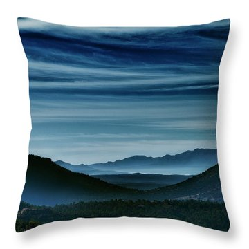 Big Bend At Dusk Throw Pillow