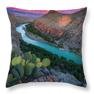 Big Bend Evening Throw Pillow