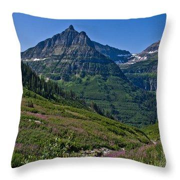 Big Bend, Glacier National Park Throw Pillow