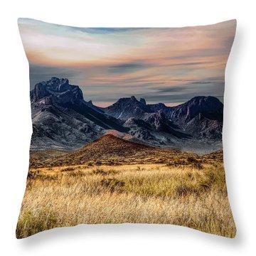 Big Bend Hill Tops Throw Pillow
