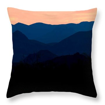 Big Bend Orange Blue Layers Throw Pillow
