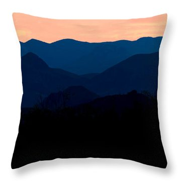 Big Bend Orange Blue Layers Throw Pillow