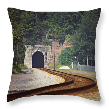 Big Bend Tunnel  Throw Pillow