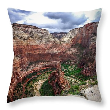 Big Bend Zion National Park Throw Pillow