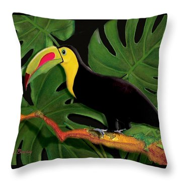 Throw Pillow featuring the painting Big Bill by Anne Beverley-Stamps