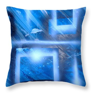 Big Blue II Throw Pillow