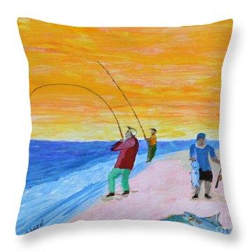 Big Blues At Herring Cove Throw Pillow by Bill Hubbard