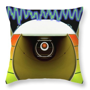 Throw Pillow featuring the digital art Big Boom Box by Wendy J St Christopher