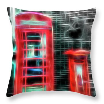 Throw Pillow featuring the photograph Big Box Little Box by Scott Carruthers