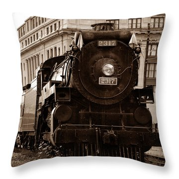 Big Boy... Throw Pillow by Arthur Miller
