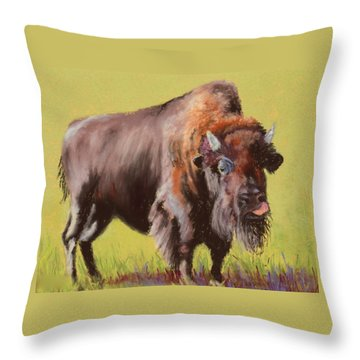 Throw Pillow featuring the painting Big Boy by Nancy Jolley