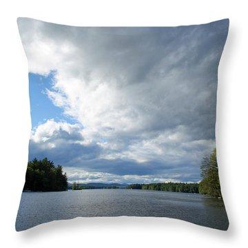 Throw Pillow featuring the photograph Big Brooding Sky by Lynda Lehmann