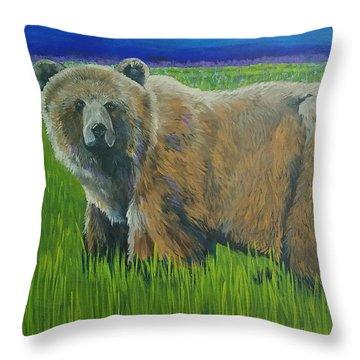 Big Brown Throw Pillow