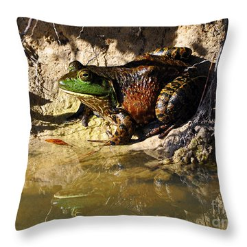 Throw Pillow featuring the photograph Big Bud by Al Powell Photography USA