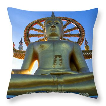 Big Buddha At Koh Samui Throw Pillow