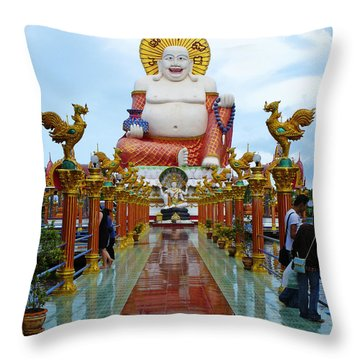 Big Buddha Throw Pillow