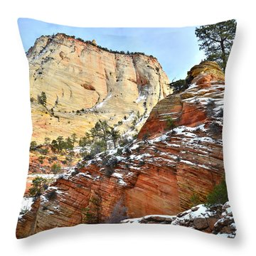 Big Butte II Throw Pillow