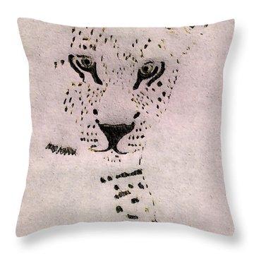 Big Cat Throw Pillow