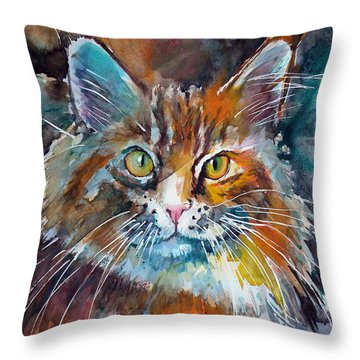 Big Cat Throw Pillow