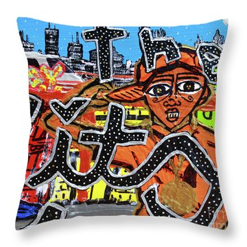 Big Cities Throw Pillow
