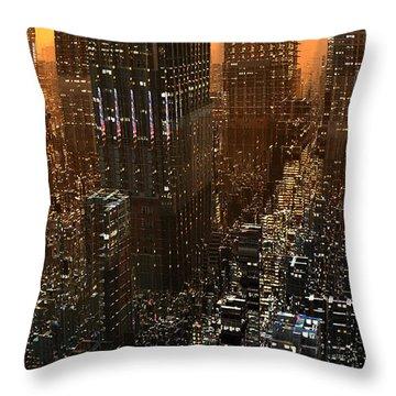Big City Sunset Throw Pillow