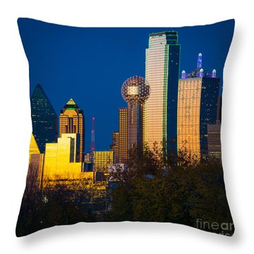 Big D Up Close Throw Pillow by Inge Johnsson