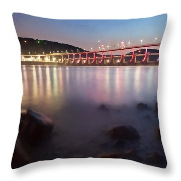 Big Dam Bridge Throw Pillow