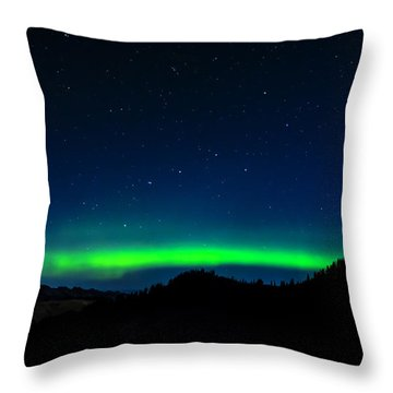 Big Dipper Northern Lights Throw Pillow