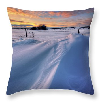 Big Drifts Throw Pillow by Dan Jurak