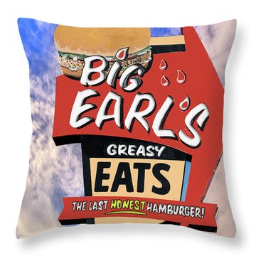 Throw Pillow featuring the photograph Big Earls by Paul Wear
