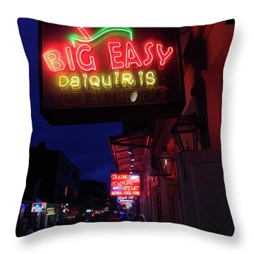 Throw Pillow featuring the photograph Big Easy Sign by Steven Spak