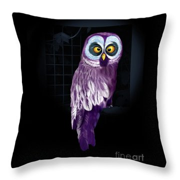 Big Eyed Owl Throw Pillow