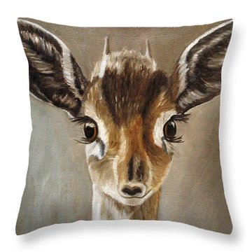 Big Eyes Dik-dik Throw Pillow