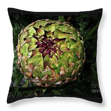 Big Fat Green Artichoke Throw Pillow