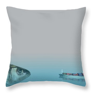 Big Fish Throw Pillow