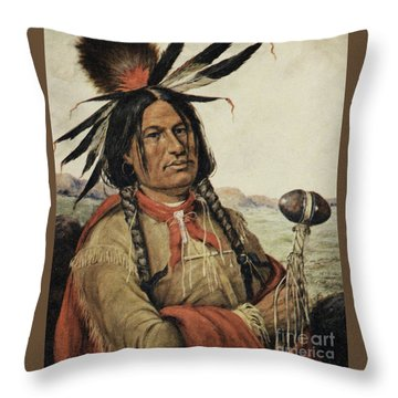 Big Foot, Chieftain Of The Hunkpapa Sioux Throw Pillow