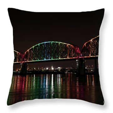 Big Four Bridge 2215 Throw Pillow