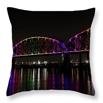Big Four Bridge 2219 Throw Pillow