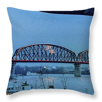 Big Four Bridge Throw Pillow