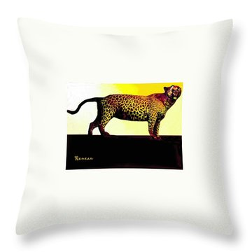 Big Game Africa - Leopard Throw Pillow by Sadie Reneau