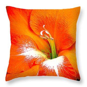 Big Glad In Bright Orange Throw Pillow