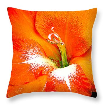 Big Glad In Bright Orange Throw Pillow