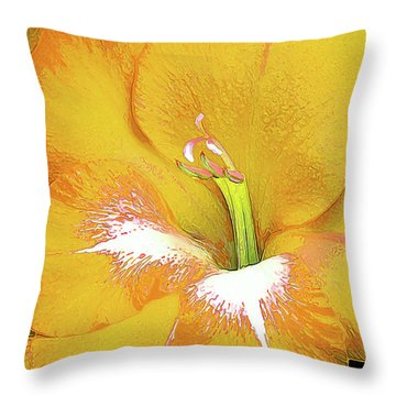 Big Glad In Yellow Throw Pillow