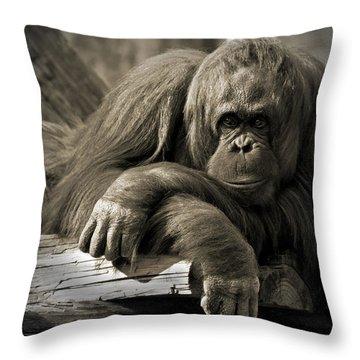 Big Hands II Throw Pillow