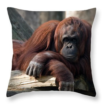 Big Hands Throw Pillow