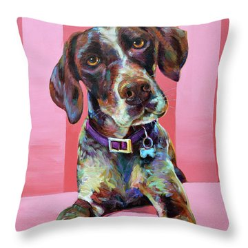 Big Hank, The German Short-haired Pointer Throw Pillow