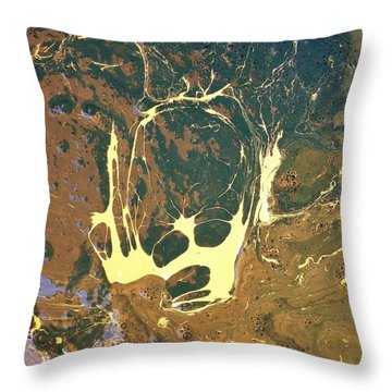 Big Headed Side Rocket Throw Pillow